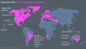 Daylight Saving Time Observed Locations